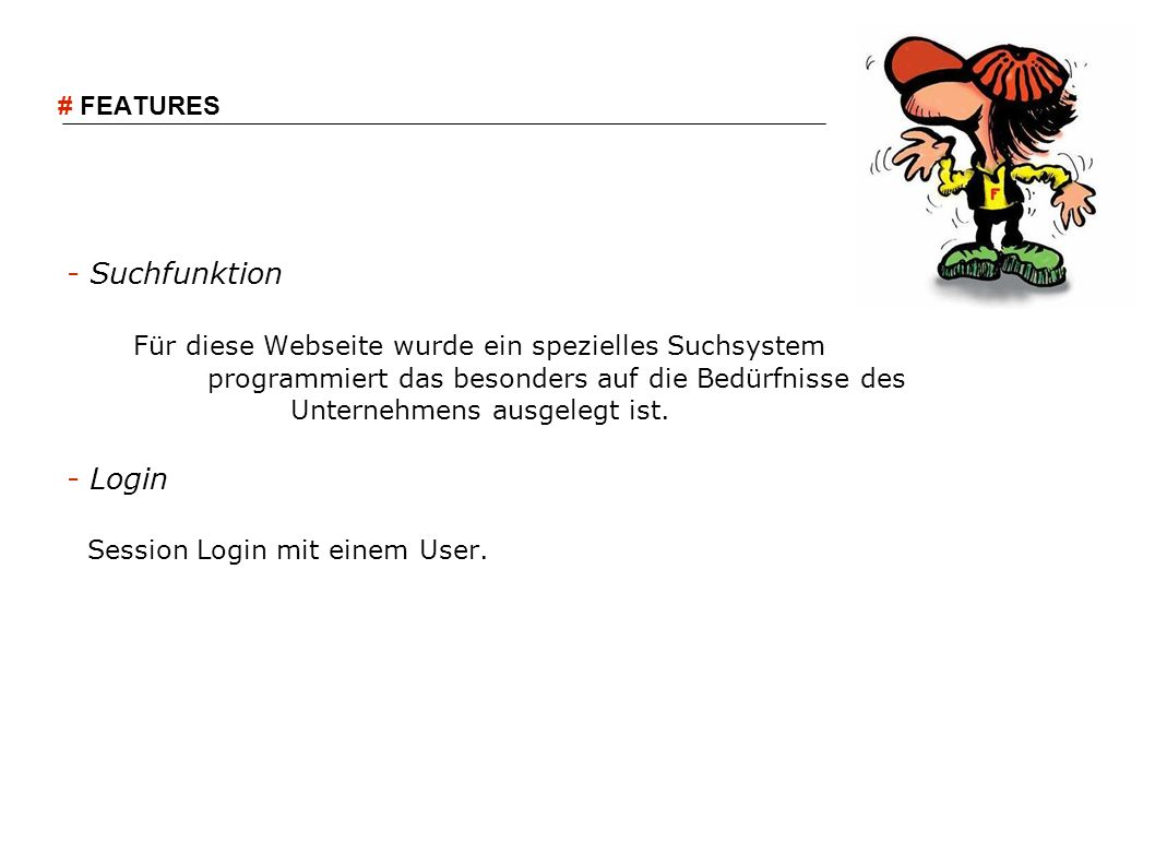Session Login mit einem User.