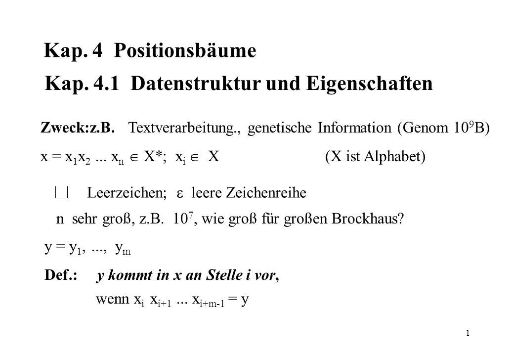 Kap. 4.1 Datenstruktur und Eigenschaften