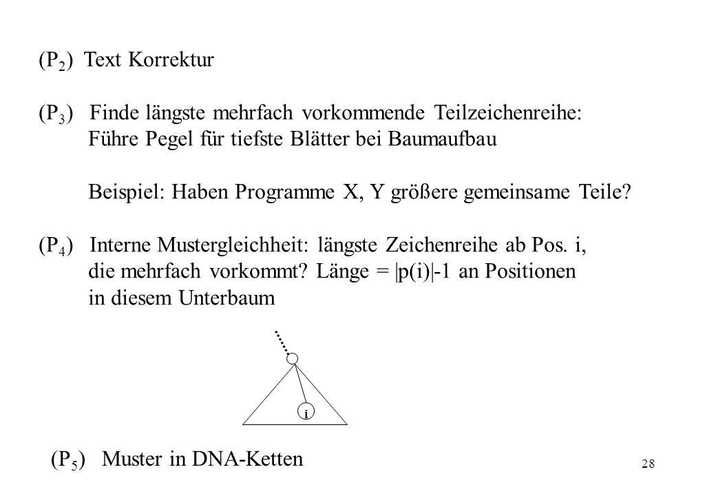 (P3) Finde längste mehrfach vorkommende Teilzeichenreihe: