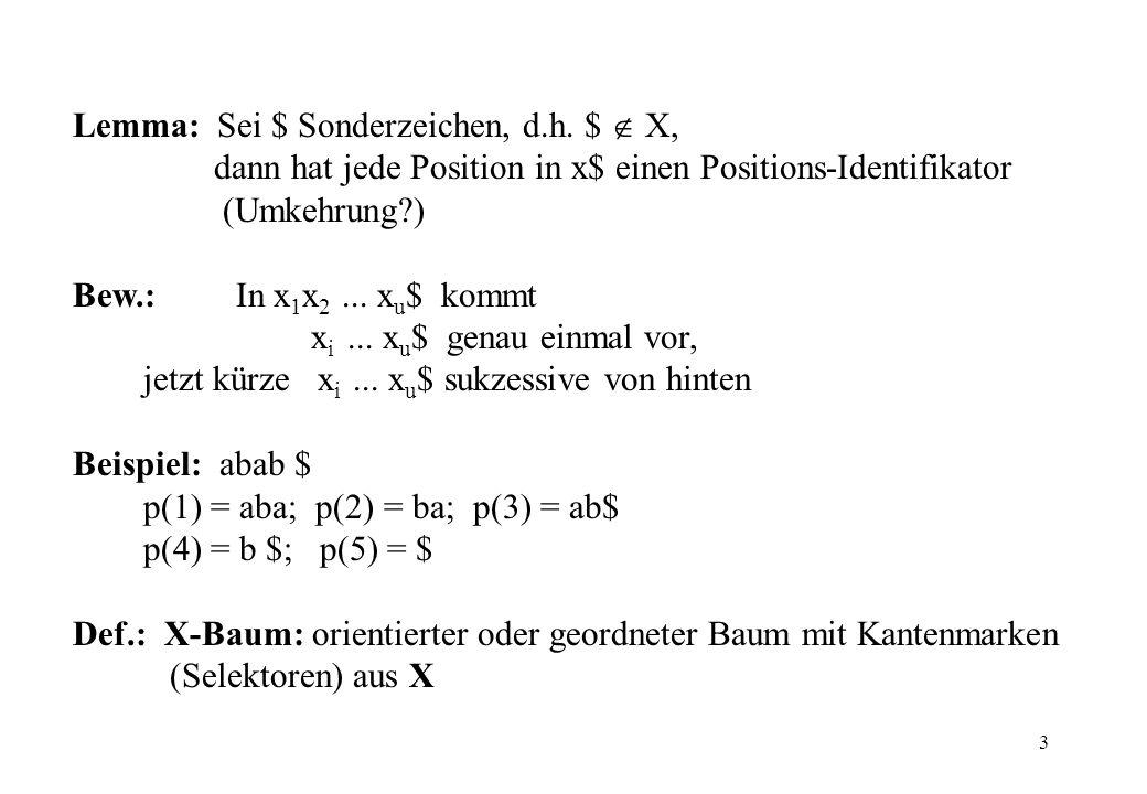 Lemma: Sei $ Sonderzeichen, d.h. $  X,