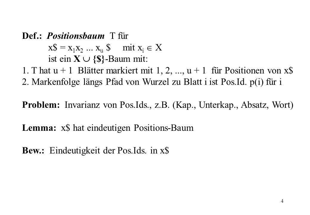 Def.: Positionsbaum T für