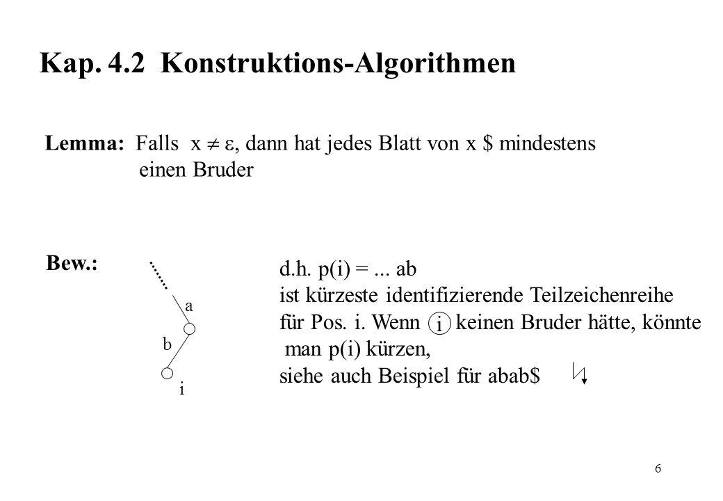 Kap. 4.2 Konstruktions-Algorithmen