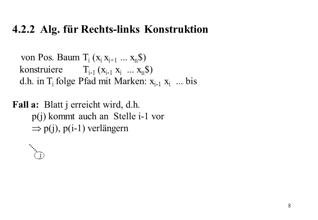 4.2.2 Alg. für Rechts-links Konstruktion