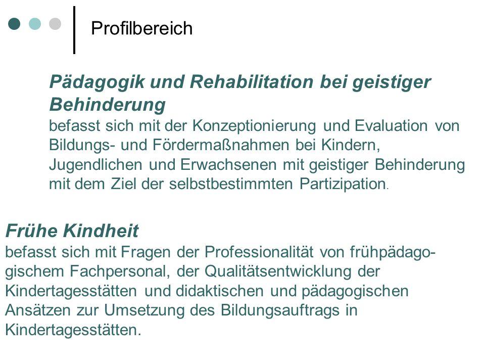 Pädagogik und Rehabilitation bei geistiger Behinderung
