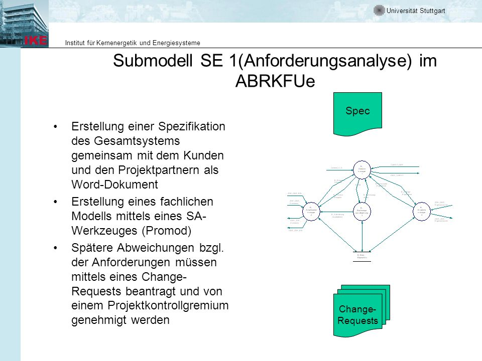 Submodell SE 1(Anforderungsanalyse) im ABRKFUe
