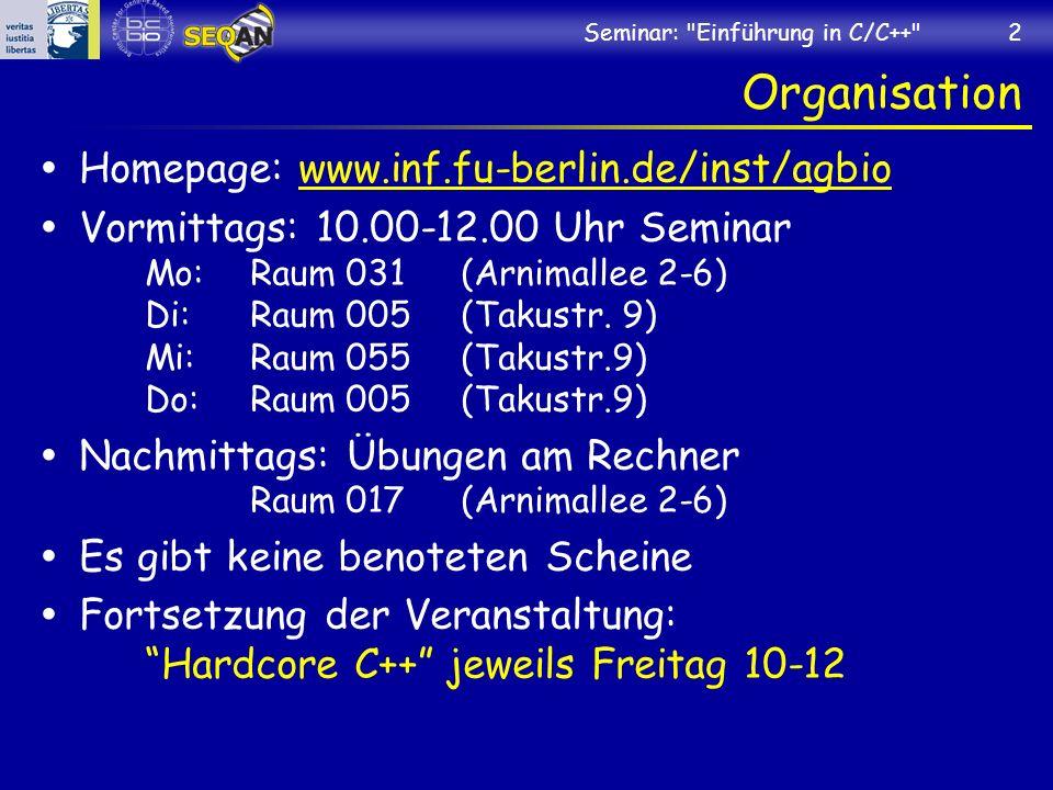 Organisation Homepage: www.inf.fu-berlin.de/inst/agbio