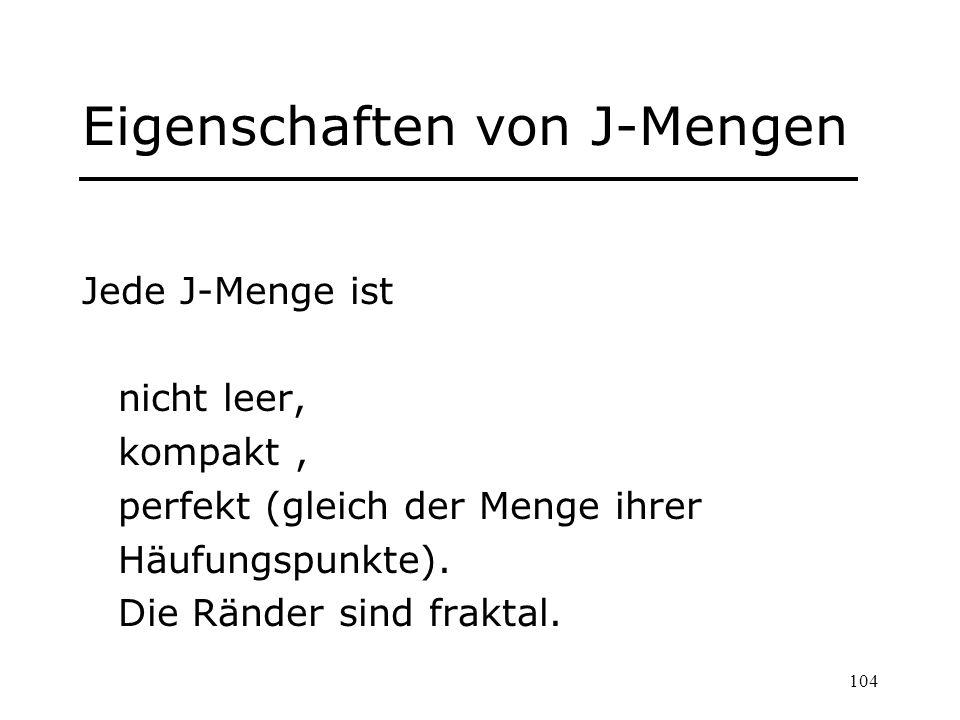 Eigenschaften von J-Mengen
