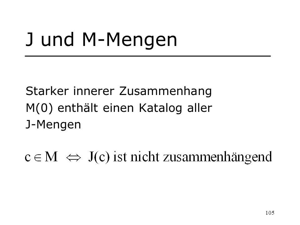 J und M-Mengen Starker innerer Zusammenhang