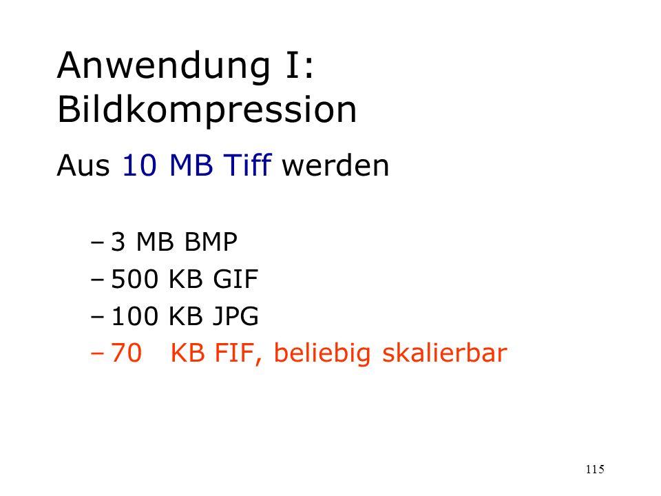 Anwendung I: Bildkompression