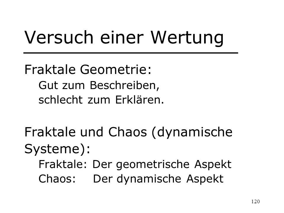 Versuch einer Wertung Fraktale Geometrie: