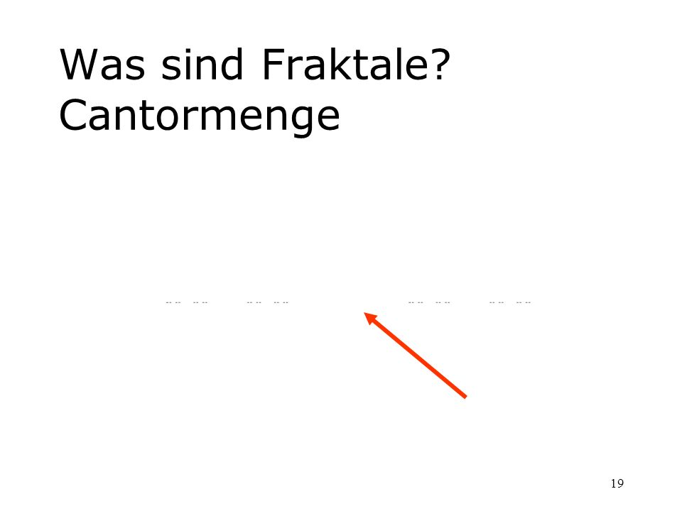 Was sind Fraktale Cantormenge