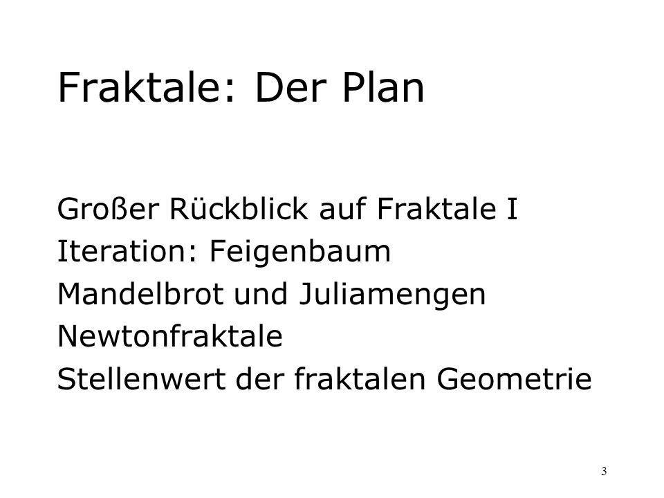 Fraktale: Der Plan Großer Rückblick auf Fraktale I