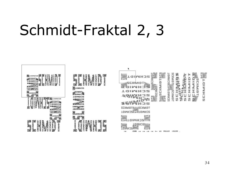 Schmidt-Fraktal 2, 3