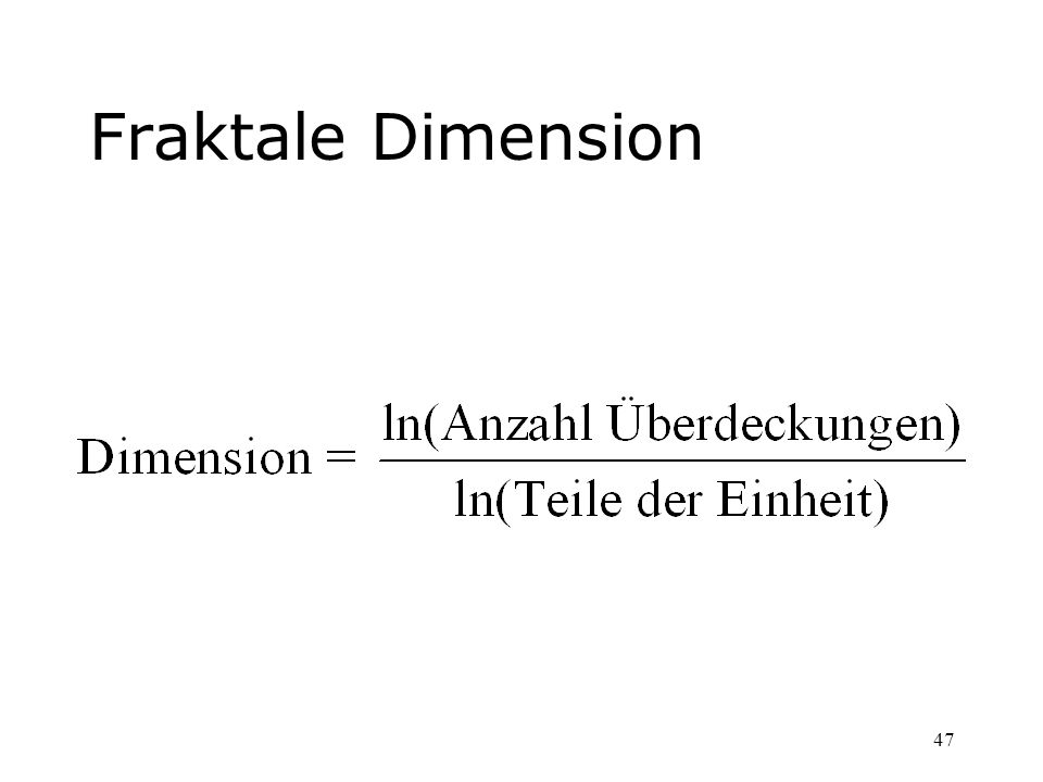 Fraktale Dimension