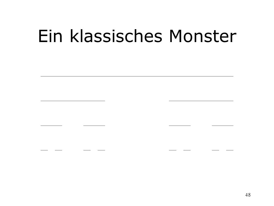 Ein klassisches Monster