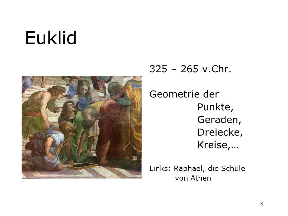 Euklid 325 – 265 v.Chr. Geometrie der Punkte, Geraden, Dreiecke,