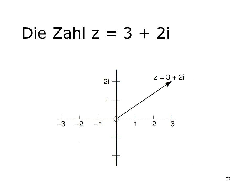 Die Zahl z = 3 + 2i
