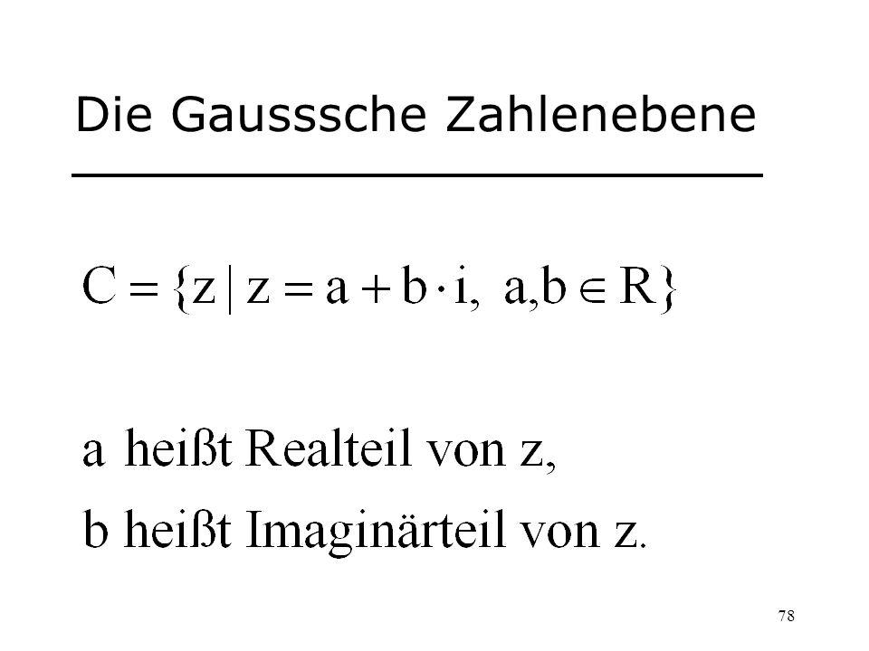 Die Gausssche Zahlenebene