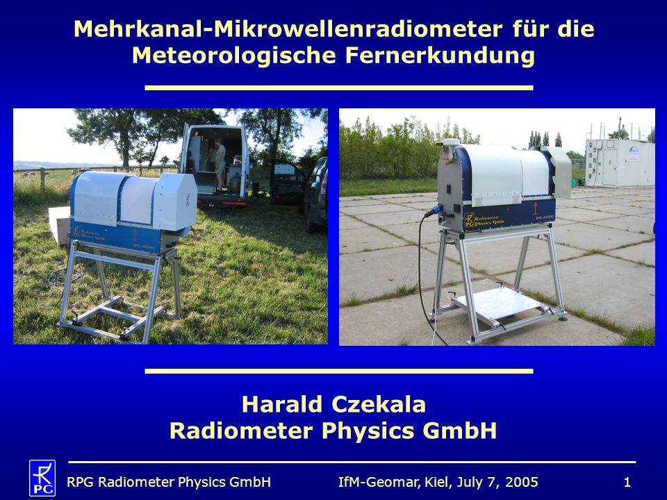 Mehrkanal-Mikrowellenradiometer für die Meteorologische Fernerkundung