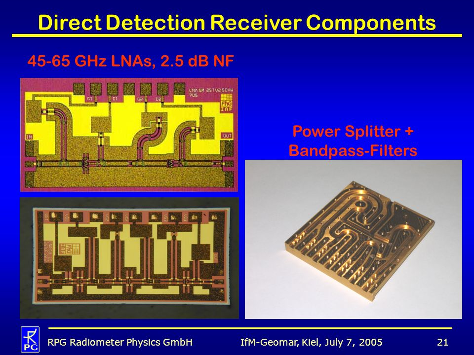 Direct Detection Receiver Components