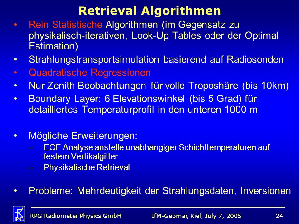 Retrieval Algorithmen