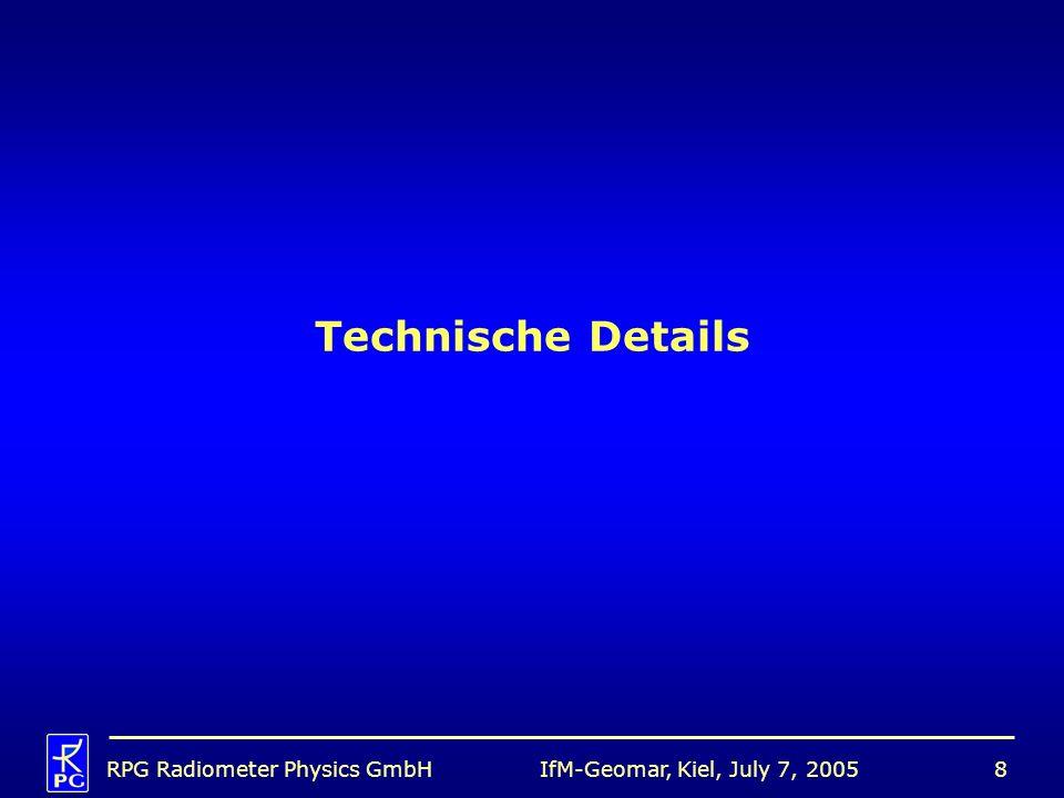 Technische Details RPG Radiometer Physics GmbH