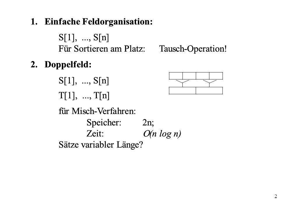 Einfache Feldorganisation: