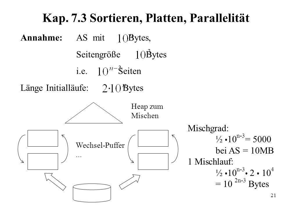 Kap. 7.3 Sortieren, Platten, Parallelität