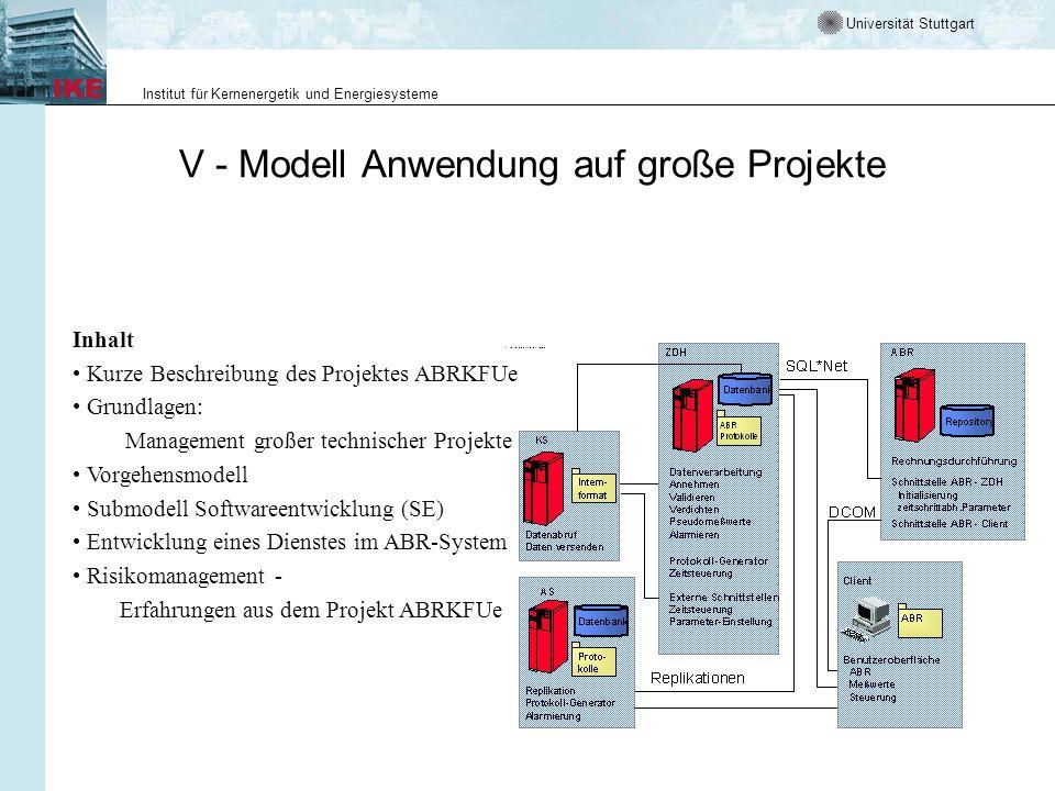 V - Modell Anwendung auf große Projekte