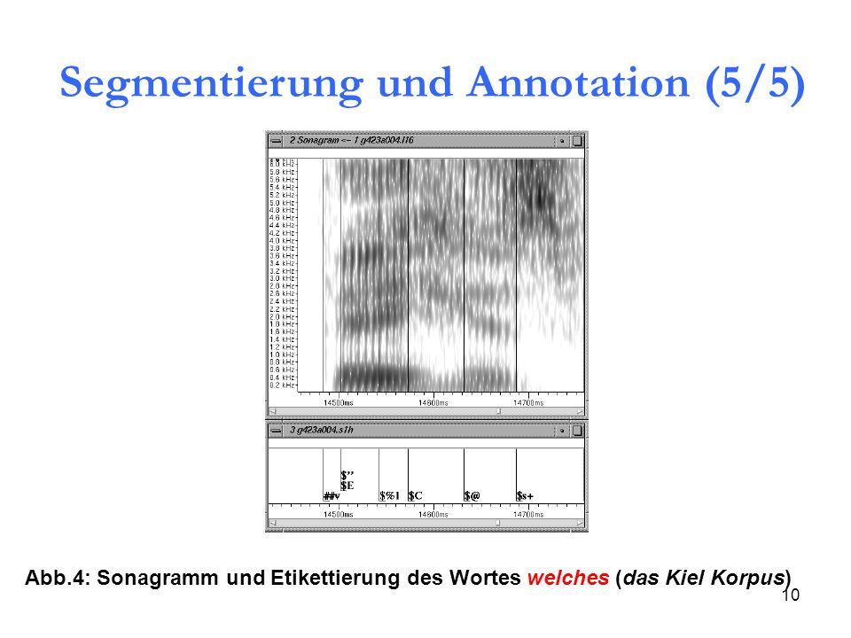 Segmentierung und Annotation (5/5)