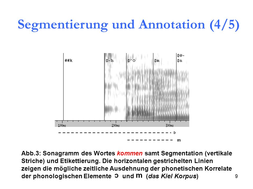 Segmentierung und Annotation (4/5)