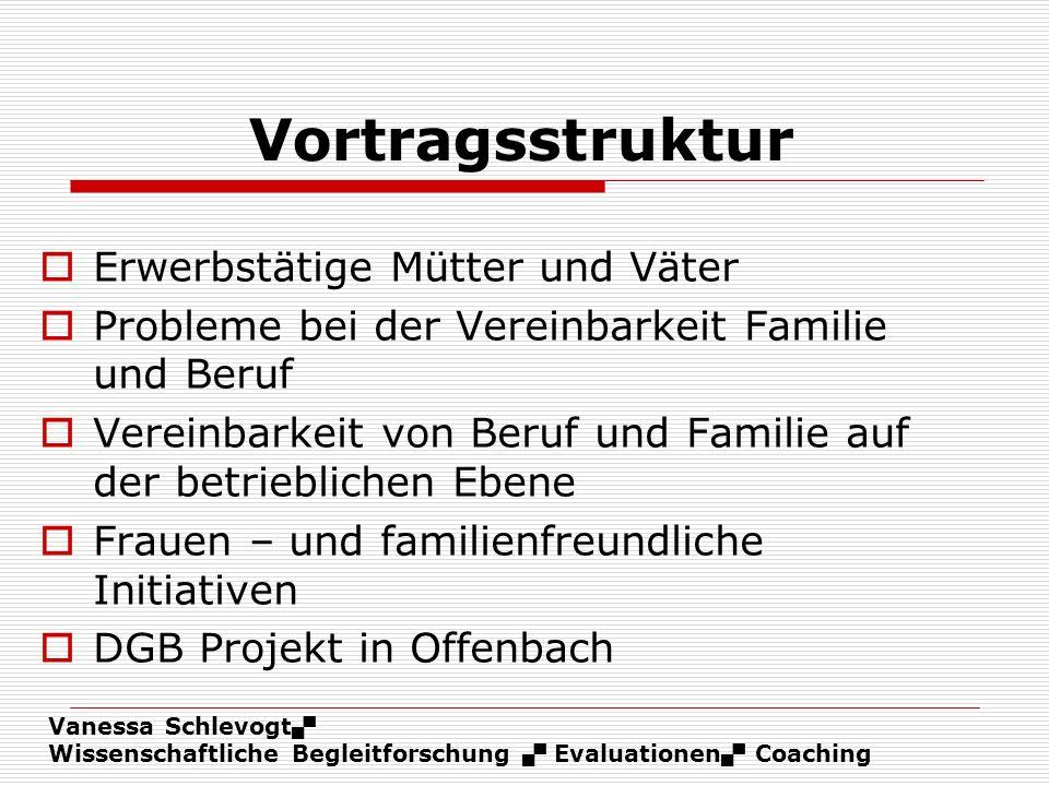 Vortragsstruktur Erwerbstätige Mütter und Väter
