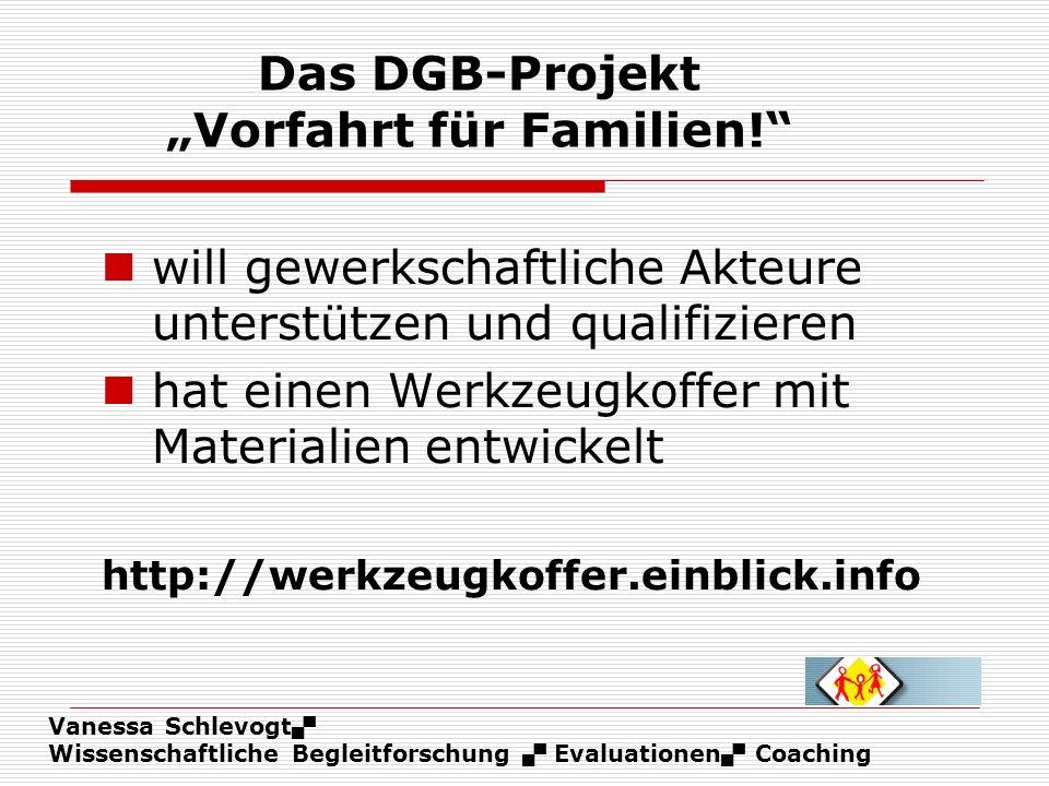 """Das DGB-Projekt """"Vorfahrt für Familien!"""