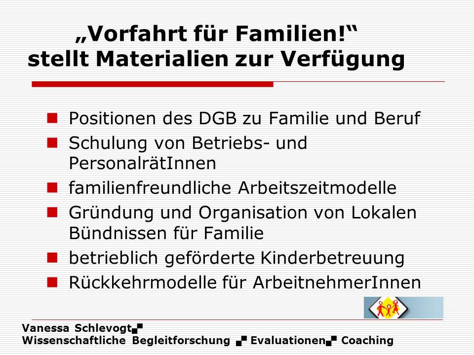 """""""Vorfahrt für Familien! stellt Materialien zur Verfügung"""