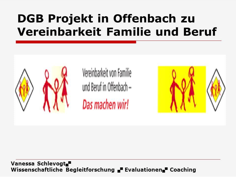 DGB Projekt in Offenbach zu Vereinbarkeit Familie und Beruf