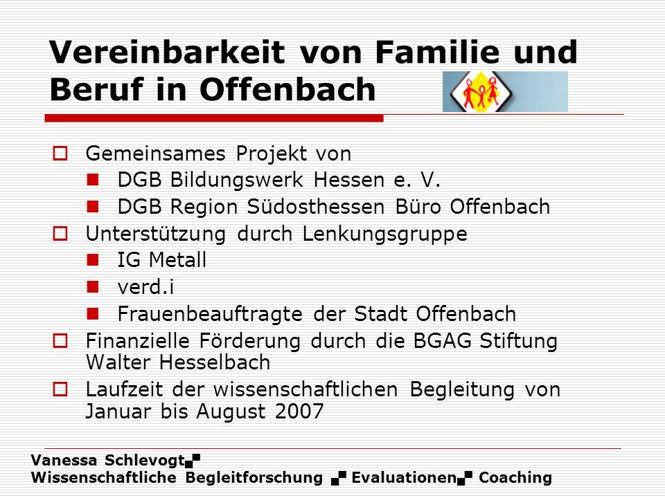 Vereinbarkeit von Familie und Beruf in Offenbach
