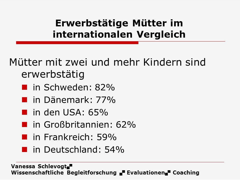 Erwerbstätige Mütter im internationalen Vergleich