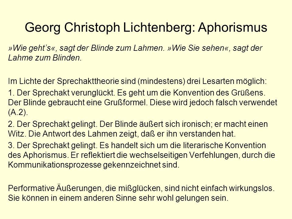 Georg Christoph Lichtenberg: Aphorismus