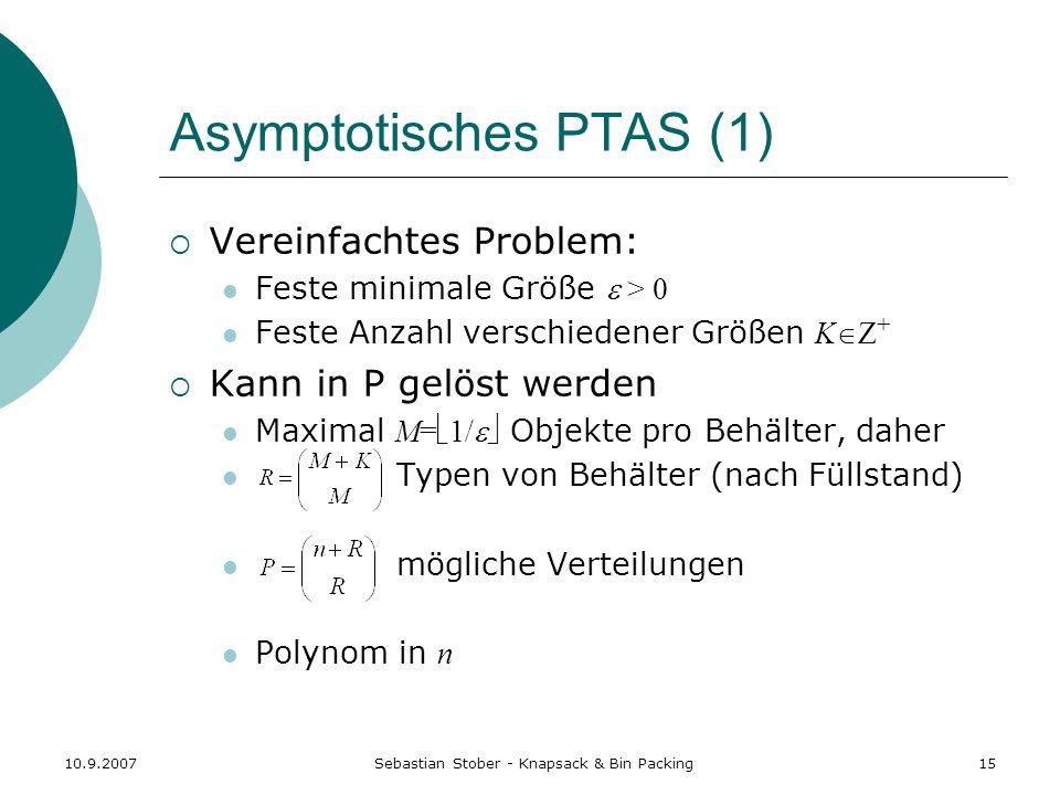Asymptotisches PTAS (1)