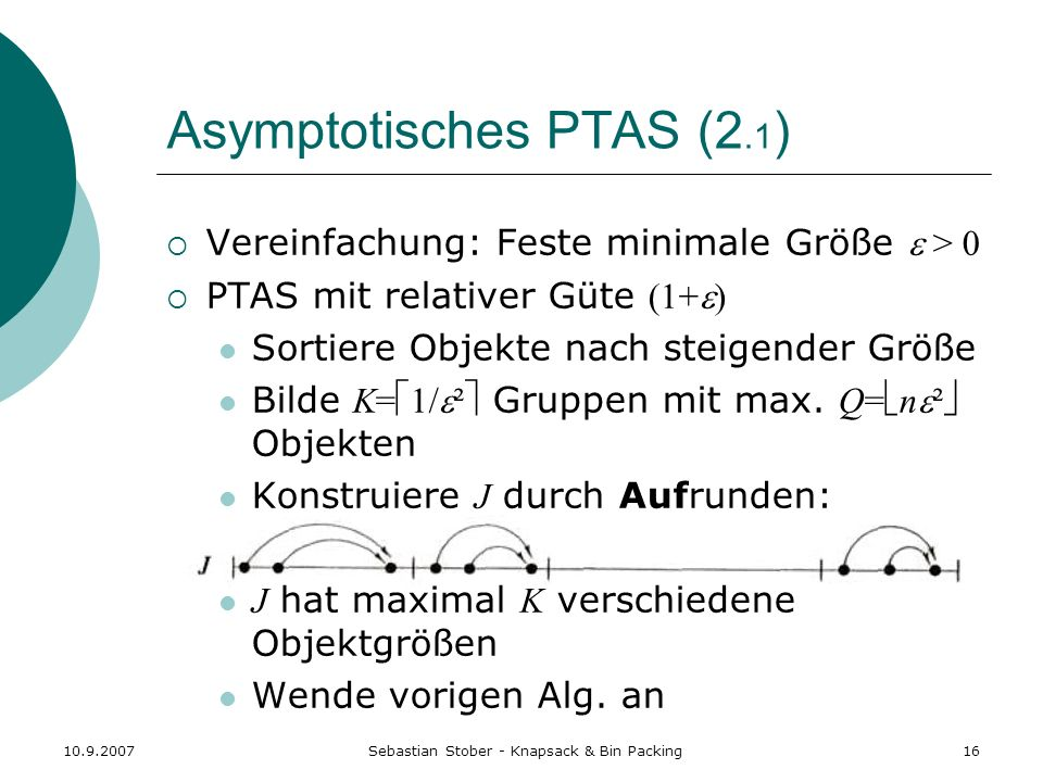 Asymptotisches PTAS (2.1)