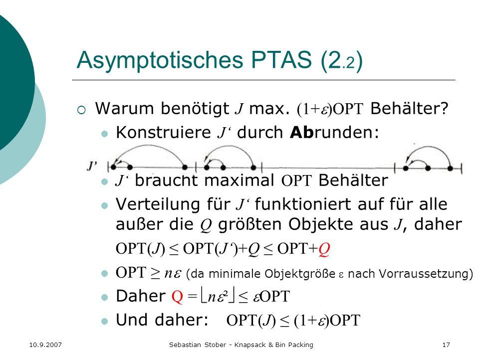 Asymptotisches PTAS (2.2)