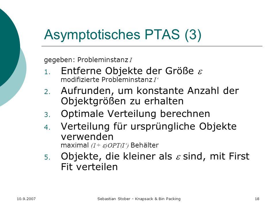 Asymptotisches PTAS (3)