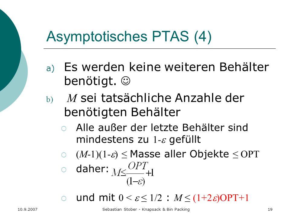 Asymptotisches PTAS (4)
