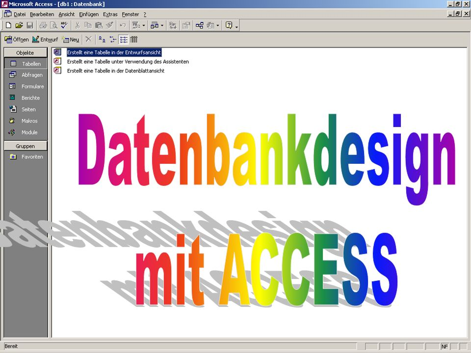Datenbankdesign mit ACCESS