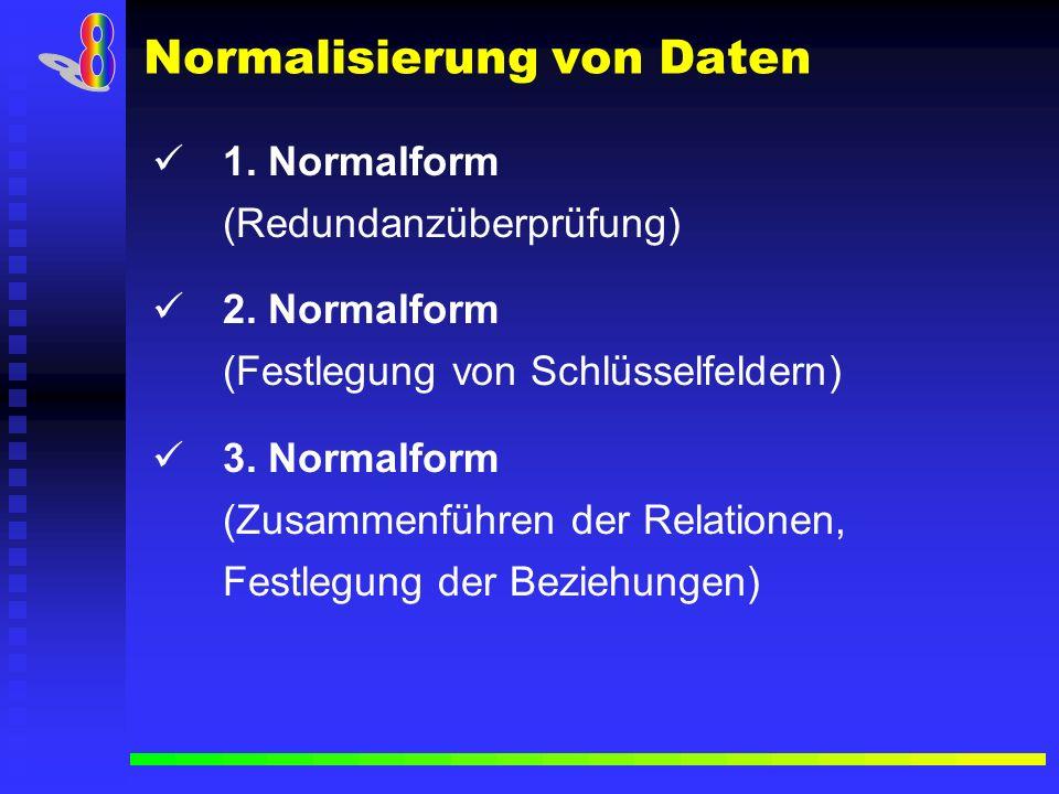 Normalisierung von Daten