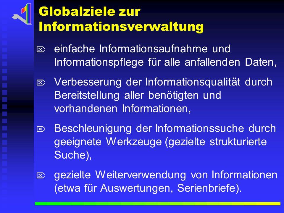 1 Globalziele zur Informationsverwaltung