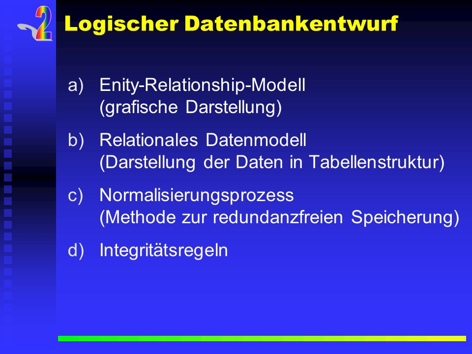 Logischer Datenbankentwurf