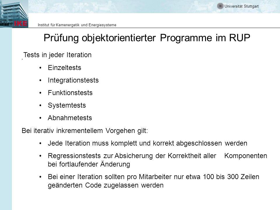Prüfung objektorientierter Programme im RUP