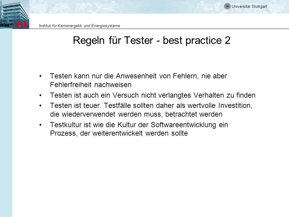 Regeln für Tester - best practice 2