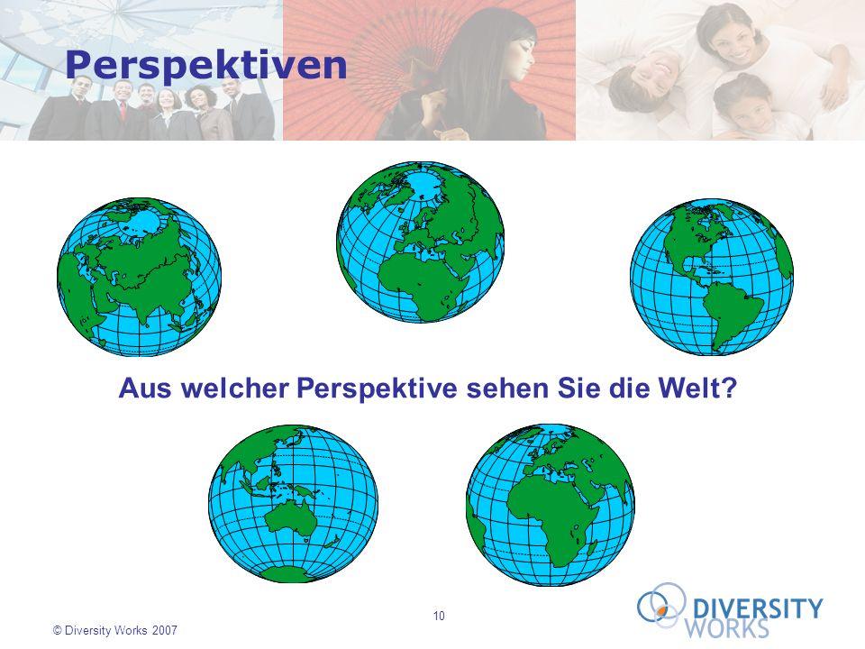 Perspektiven Aus welcher Perspektive sehen Sie die Welt